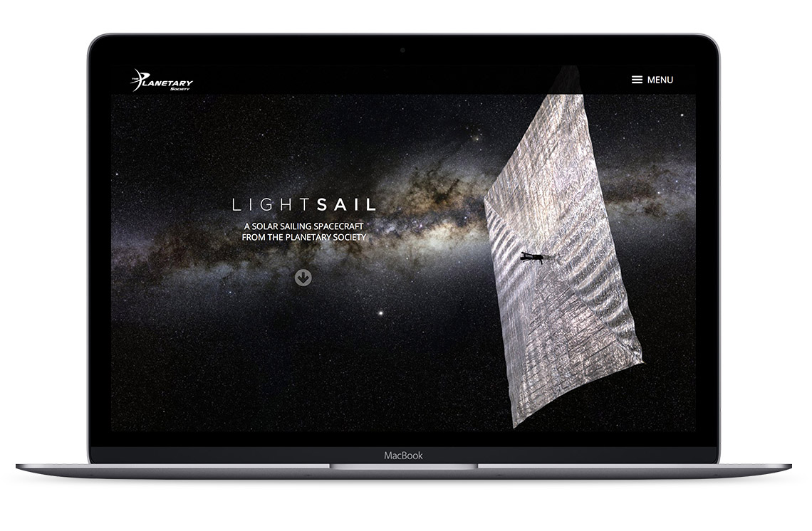 laptop view of LightSail website