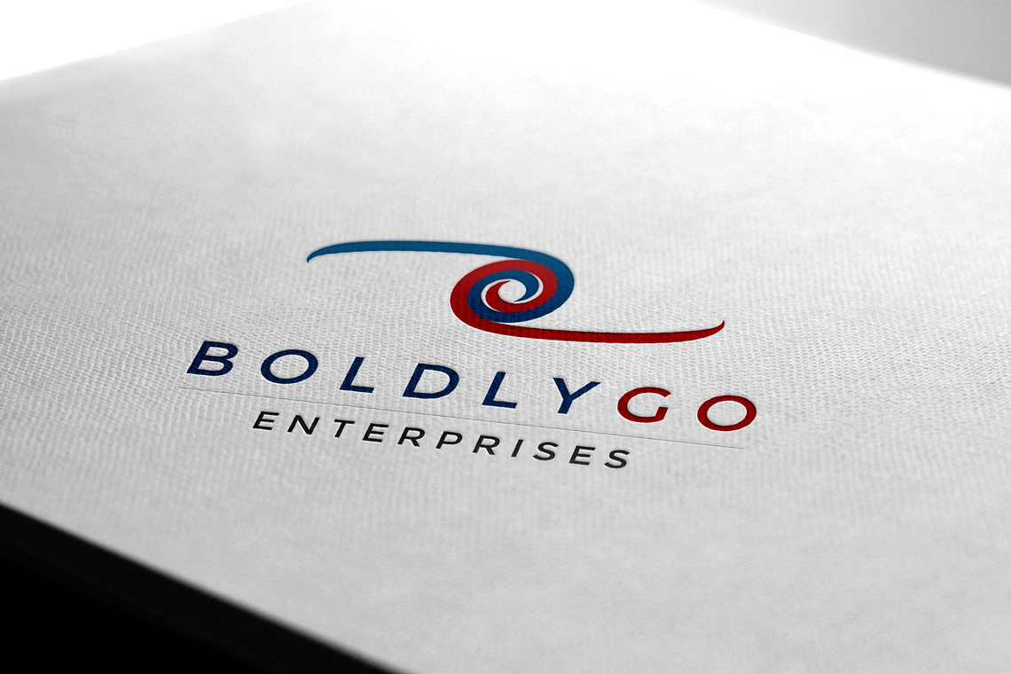 BoldlyGo Enterprises logo on paper